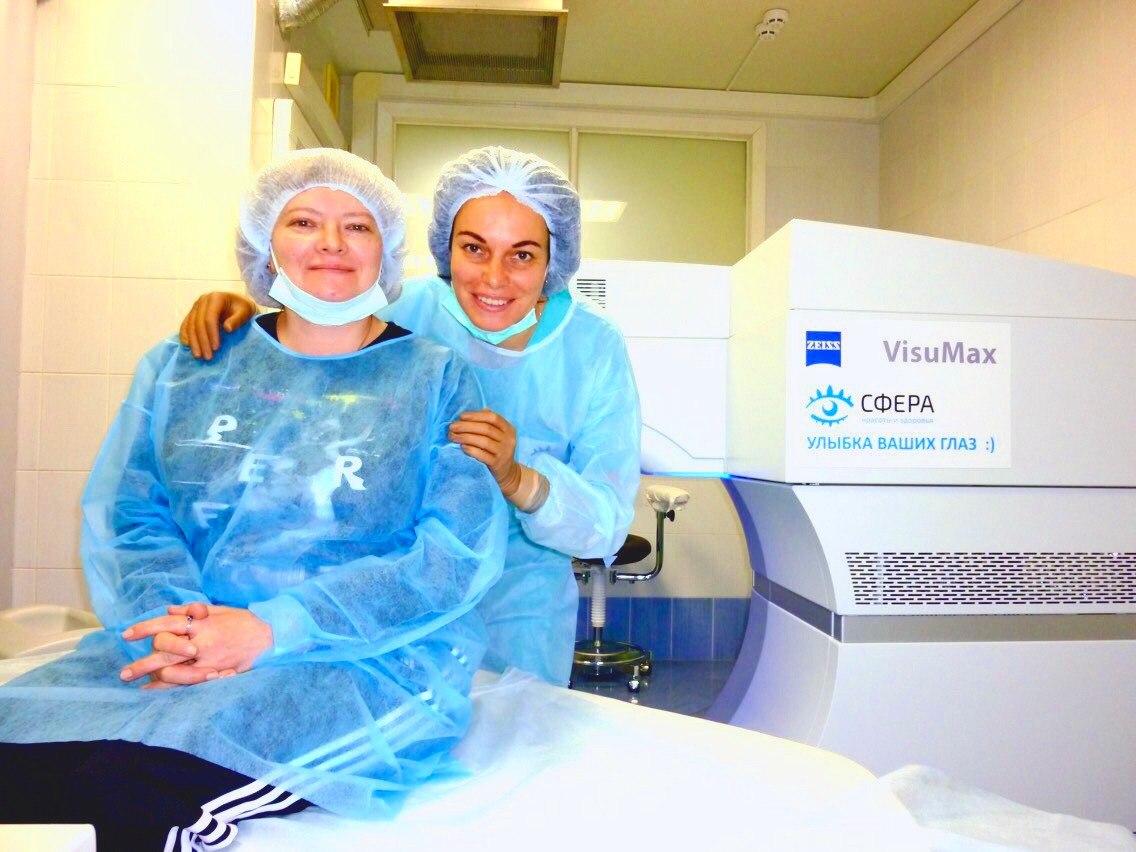 Отзыв о лазерной коррекции зрения Москва Клиника Сфера