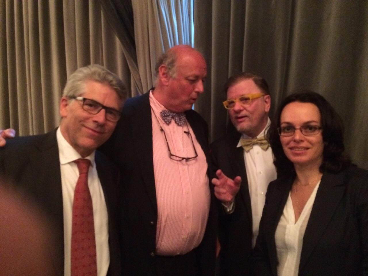 Участники конгресса (слева направо): P. Kestelyn (Бельгия), A. Hommer (Австрия), C. Herbort (Швейцария), Э.Н. Эскина (E.N. Eskina. Россия, Москва)